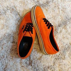 Neon Orange Authentic Vans